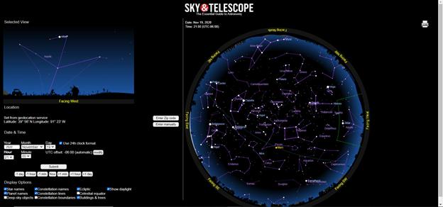 Sky Interactive Star Chart