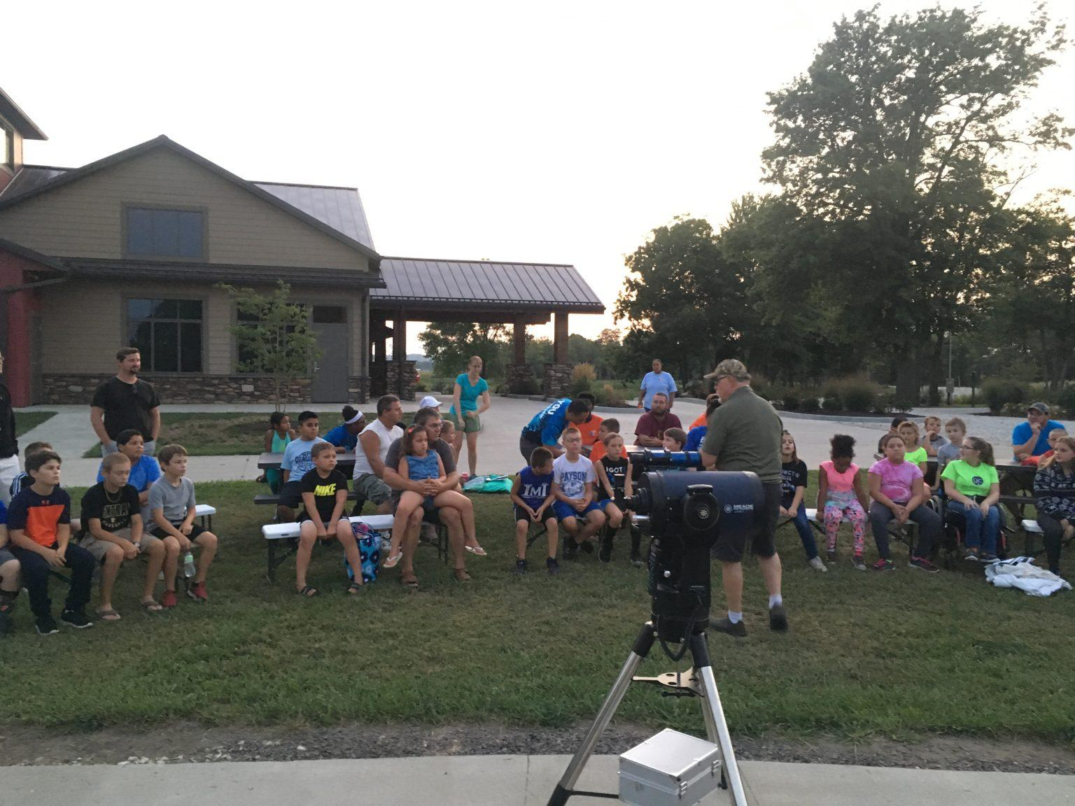 "Our ""First Night Out"" Star Party is perfect for introducing the night sky to area youth."